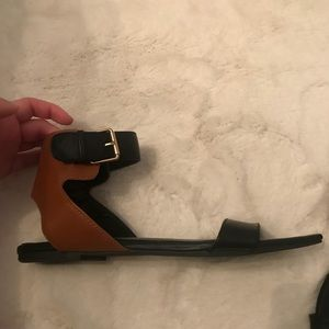 Tan & Black sandals